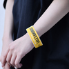Ticket Rubber Wrist Band(Yellow)