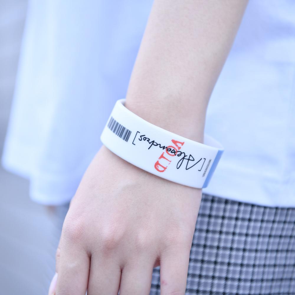 Ticket Rubber Wrist Band(Blue)