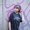 Vintage Style T-Shirt(Black×White)