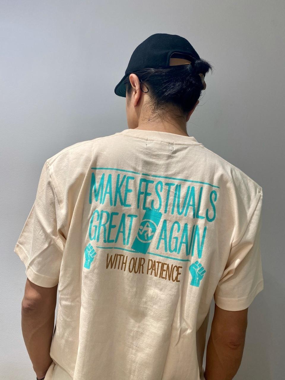 MAKE FESTIVALS GREAT AGAIN Tee(クリーム)