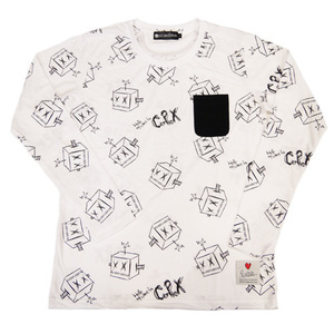 CPX総柄ロングTシャツ(ホワイト)
