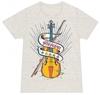 バイオリンTシャツ(オートミール)