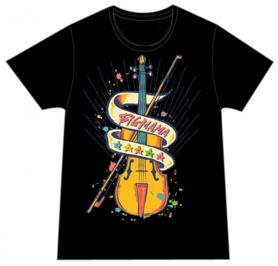 バイオリンTシャツ(ブラック)