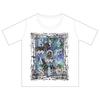 ミュージカルシンボルTシャツ produced by mao (ホワイト x 青紫プリント)