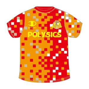 サッカーシャツ 2016(オレンジ×レッド)