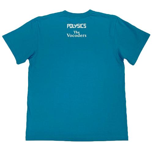 【POLYSICS/The Vocoders】その後の扇風機少女Tシャツ(ターコイズ)