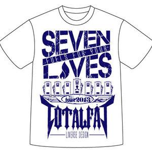 SEVEN LIVES Tシャツ(ホワイト×ネイビー)