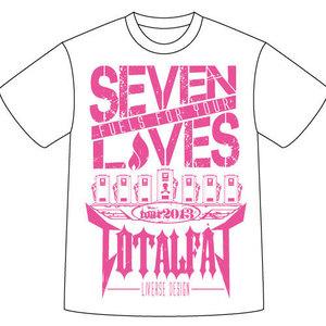 【通販限定】 SEVEN LIVES Tシャツ(ホワイト×ピンク)