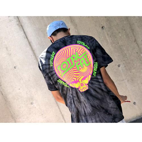 【通販限定カラー】Skull Tシャツ(タイダイブラック)