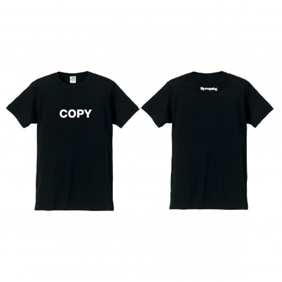 「COPYロゴTシャツ」(黒)