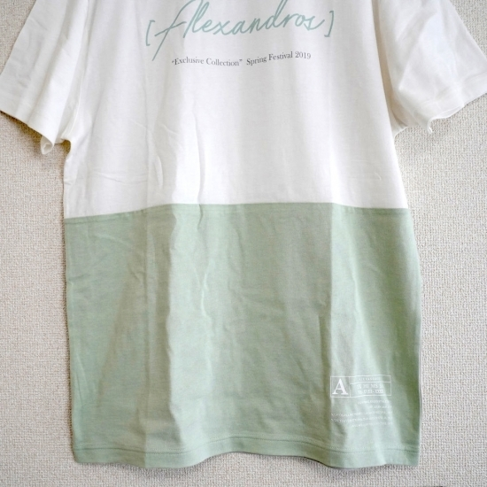【ONLINE LIMITED】BI-COLOR TEE (GREEN/GRAY)