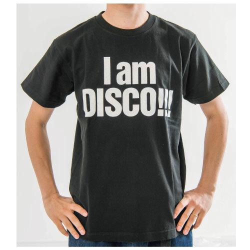 I am DISCO!!! Tシャツ(ブラック)