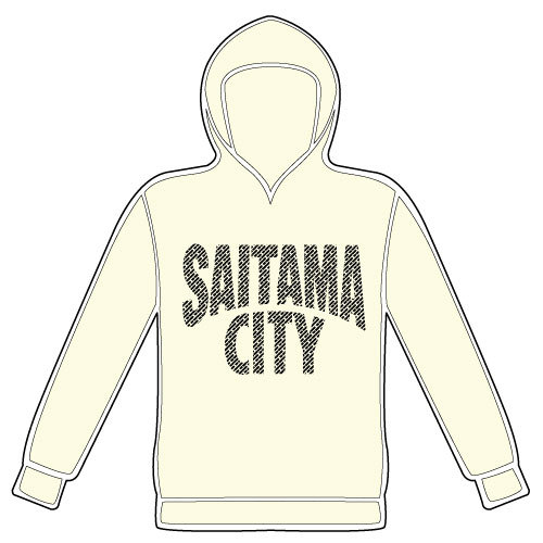 SAITAMA CITYプルオーバーパーカー(オフホワイト)