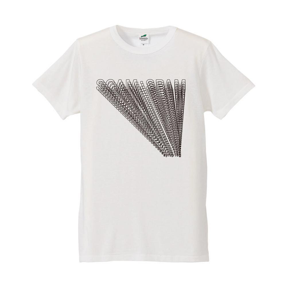 【SCAM : SPAM】【A】Tシャツ(白)