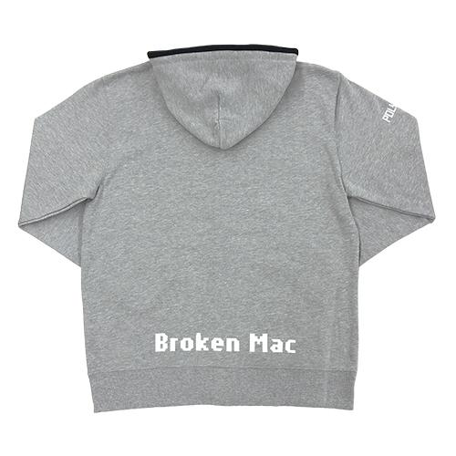 Broken Macパーカ(グレー)