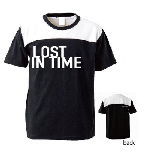 切り替えボディTシャツ(黒ボディ×白文字)