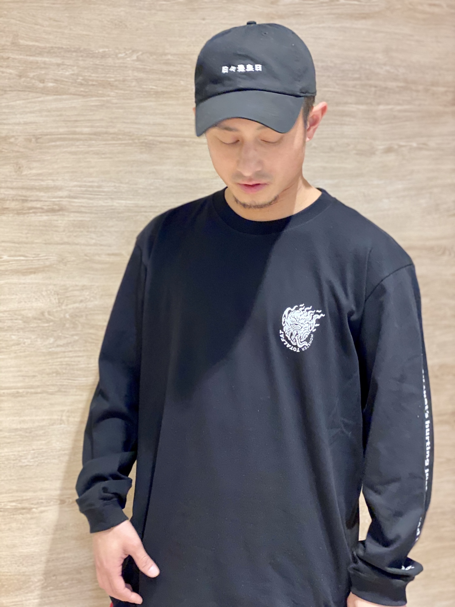 MONSTER Long Sleeve T-Shirt (BLACK)