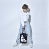 【SALE】TOTE BAG(BLACK/NATURAL)