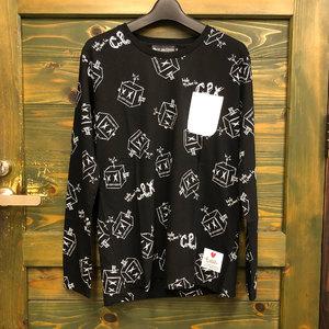CPX総柄ロングTシャツ(ブラック)