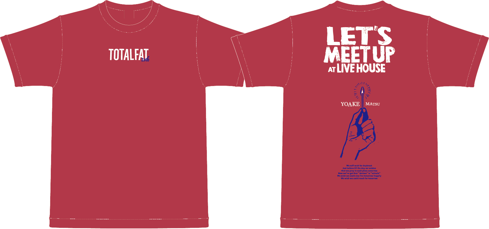 【 受注生産 】待ち合わせはライブハウスでTシャツ(夜明け待つピンク)