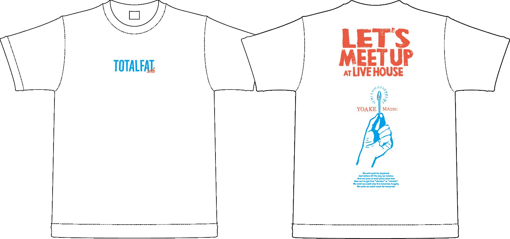 【 受注生産 】待ち合わせはライブハウスでTシャツ(ホワイト)
