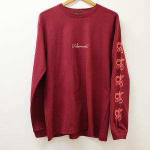 DROS LOGO LONG SLEEVE TEE  (BURGUNDY)