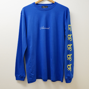 DROS LOGO LONG SLEEVE TEE  (BLUE)