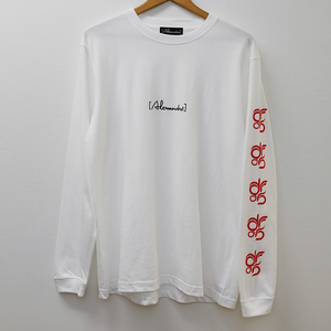 DROS LOGO LONG SLEEVE TEE  (WHITE)