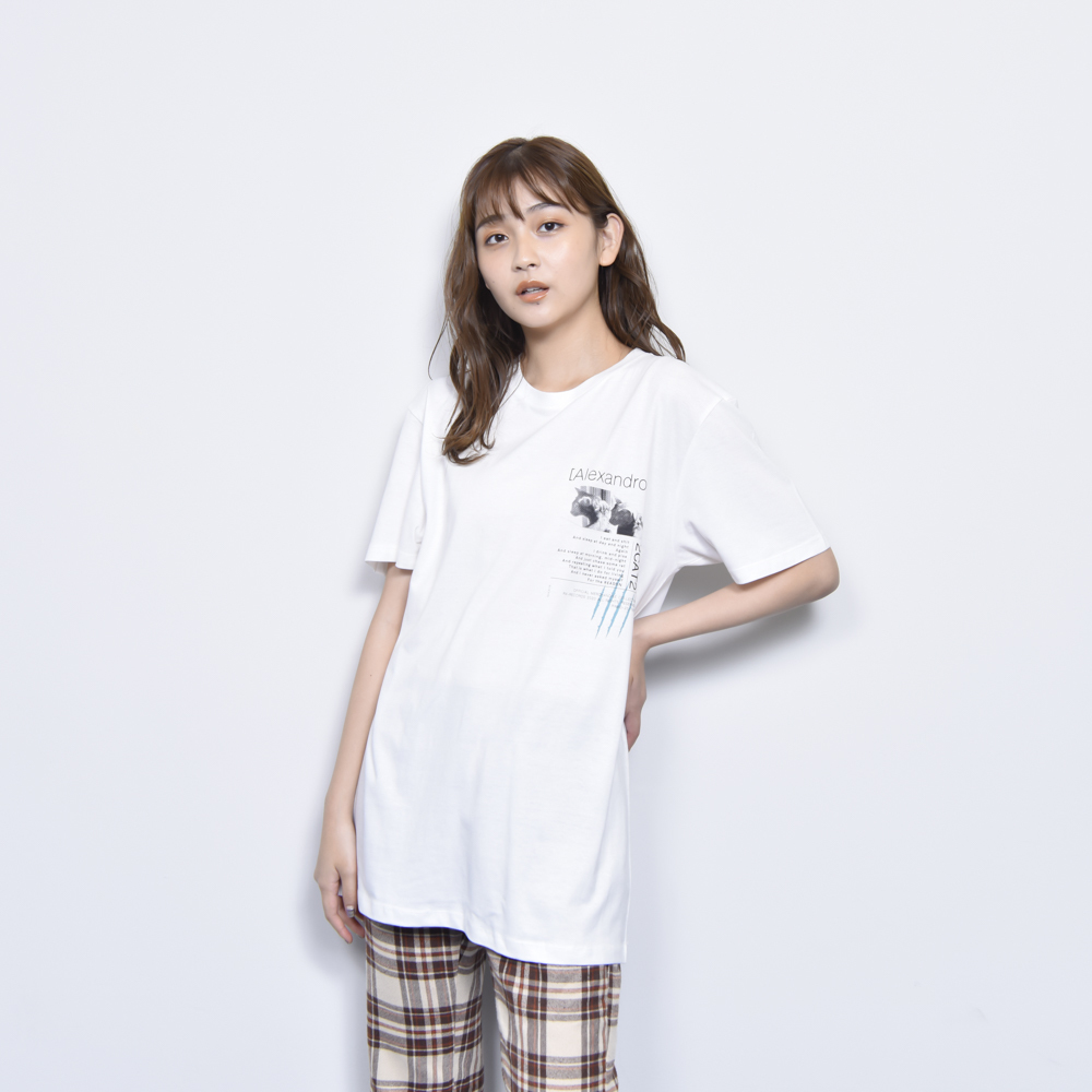 【 MORE SALE 】2CAT2 TEE (WHITE)