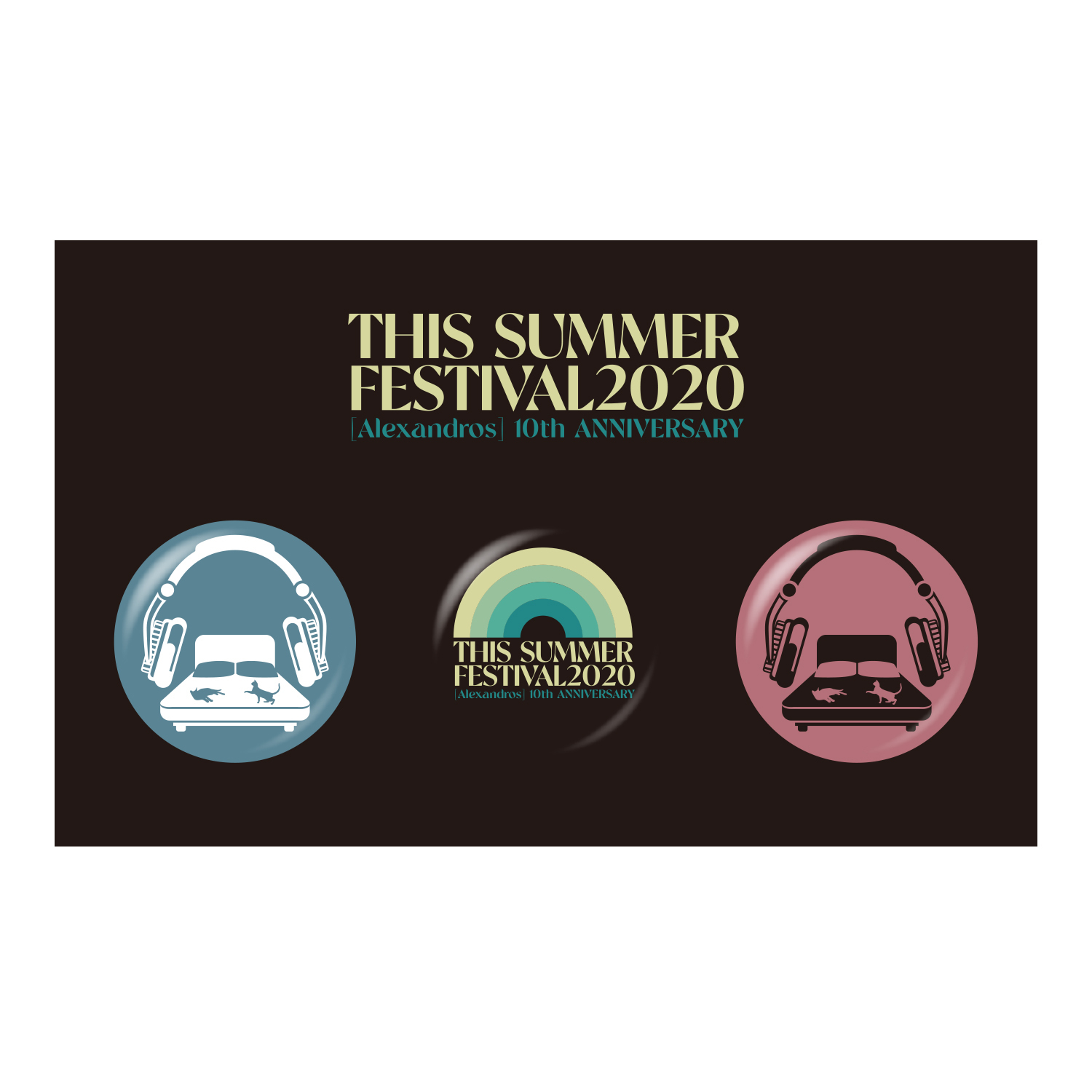 【SPECIAL PRICE】THIS SUMMER FESTIVAL 2020 BADGE SET