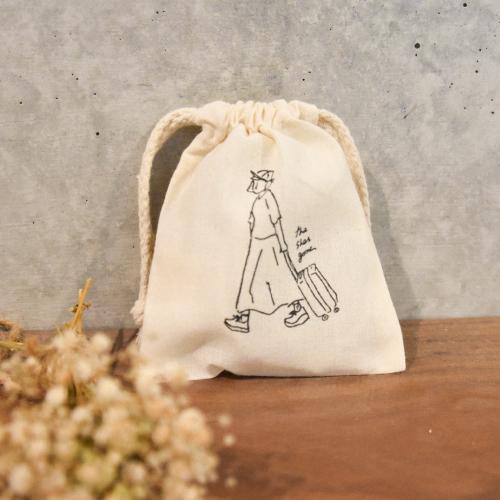 drawstring bag(ナチュラル)