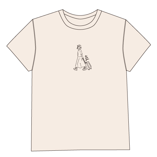 the shes gone T-shirt(ナチュラル)