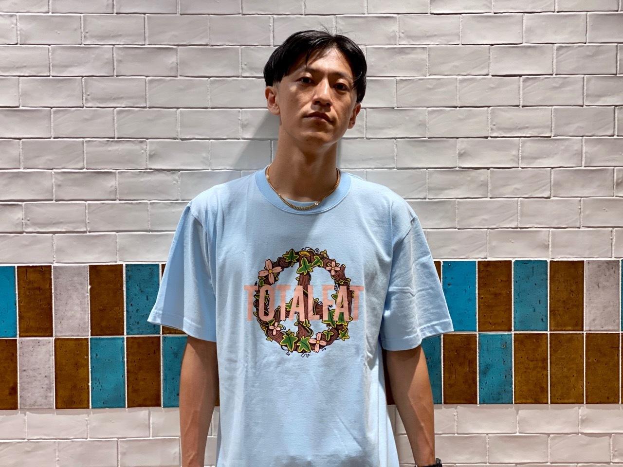 Flower ロゴ Tシャツ (ライトブルー)