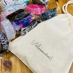 【11月上旬以降お届け】RUBBER BAND drawstring bag