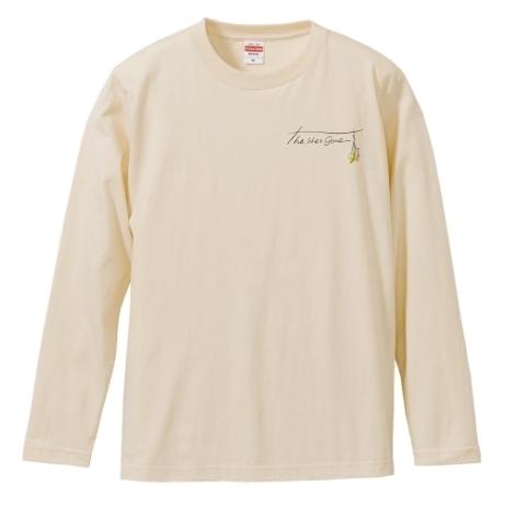 flower logo long sleeve T-shirts(ベージュ)