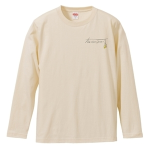 flower logo long sleeve T-shirts(ベージュ)