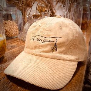 corduroy cap(ベージュ・ブラウン)