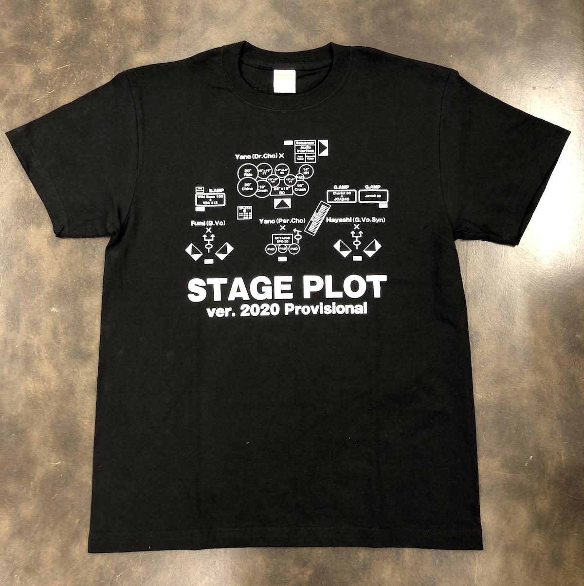 STAGE PLOT Tシャツ(ブラック)
