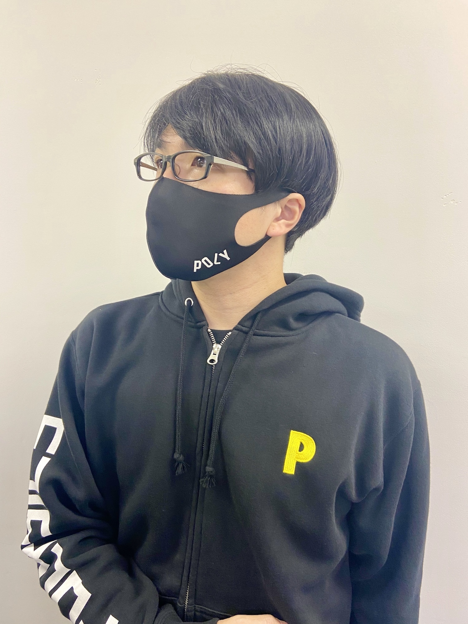 POLYマスク(ブラック / ホワイト)