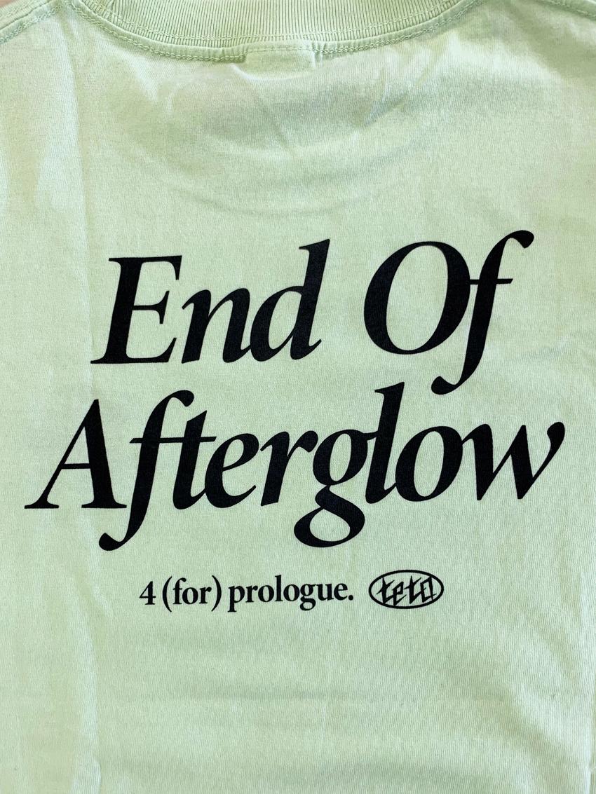 【受注販売】end of aftergrow L/S Tee(ミルキーライム)