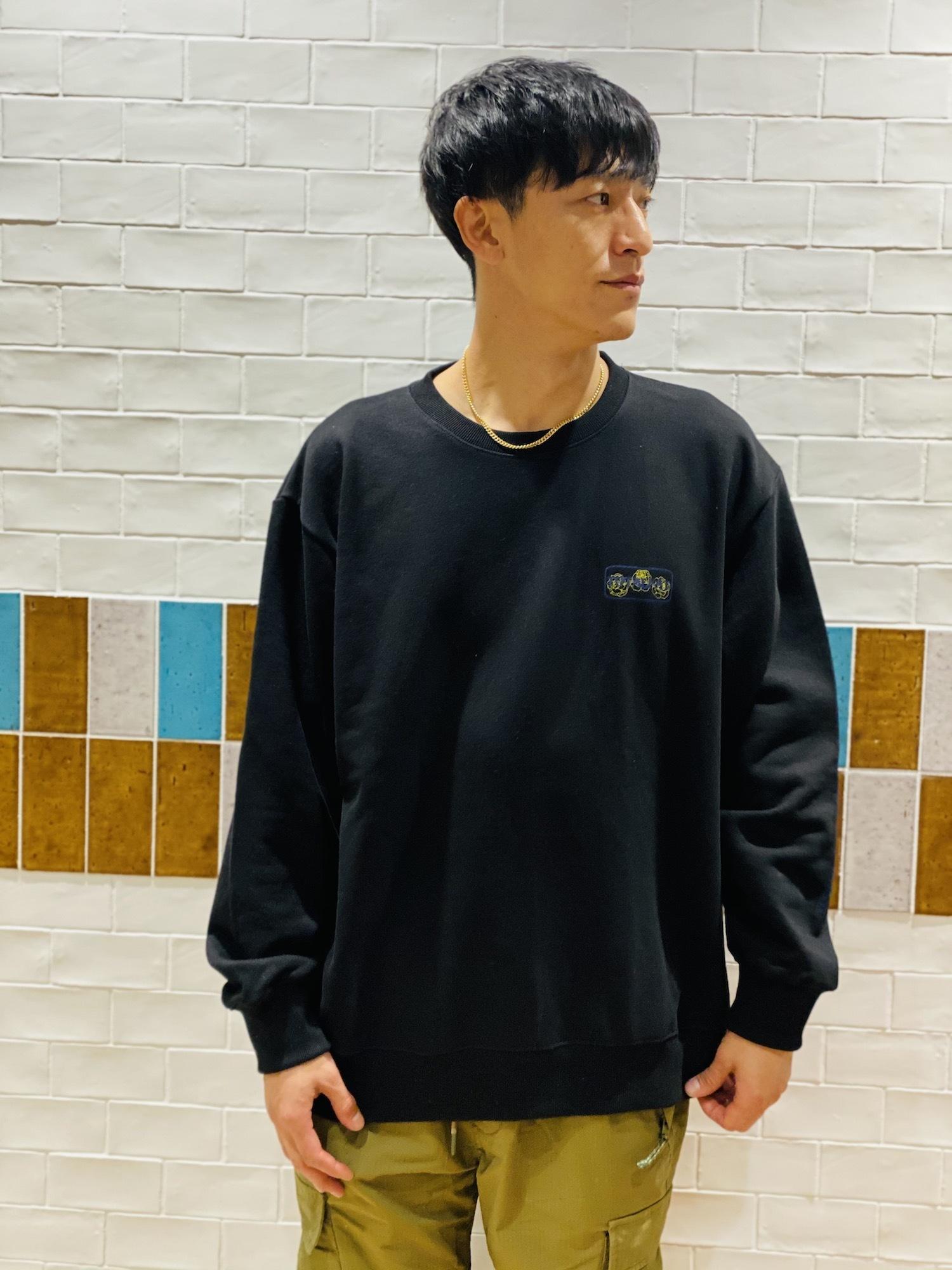 オーバーサイズスウェットシャツ(ブラック)