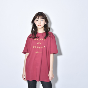 Where's My Yoyogi? LOGO TEE(BURGUNDY)