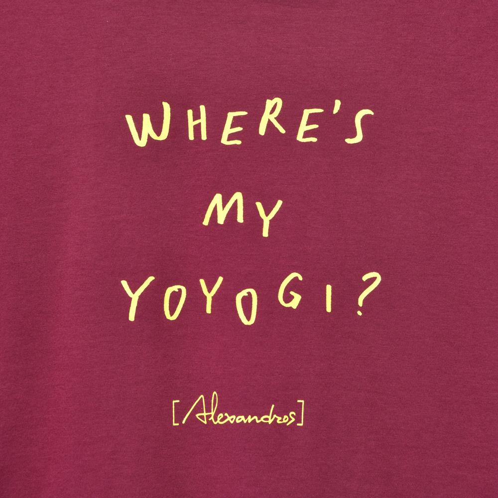 Where's My Yoyogi? LOGO TEE(BURGUNDY)