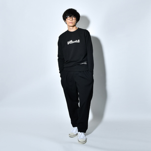 Patch Sweat Shirt(BLACK)