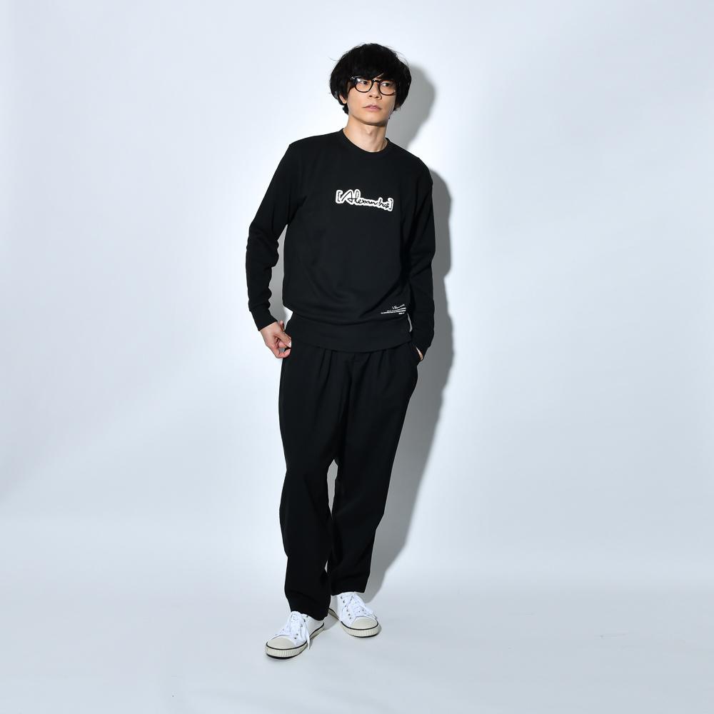 Patch Sweat Shirt(BLACK)
