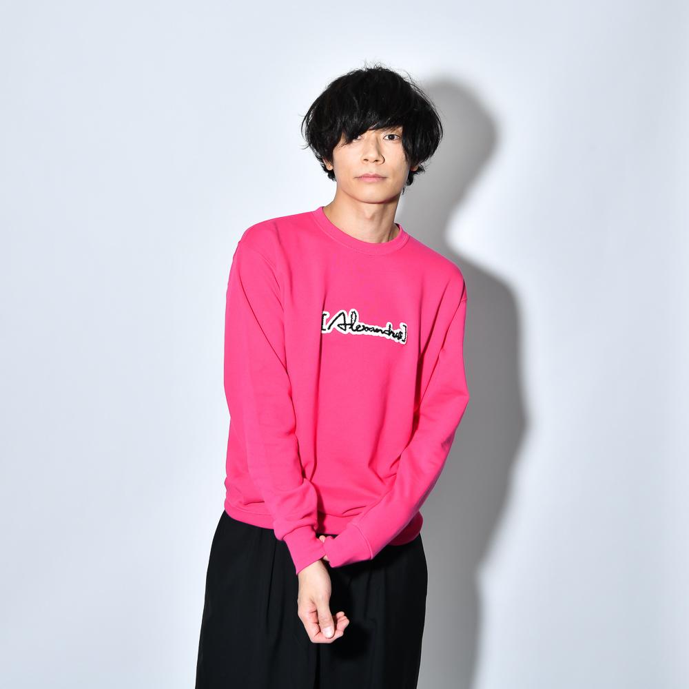 Patch Sweat Shirt(FLAMINGO_PINK)