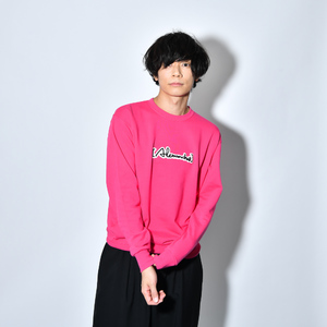 Patch Sweat Shirt(FLAMINGO_PINK)