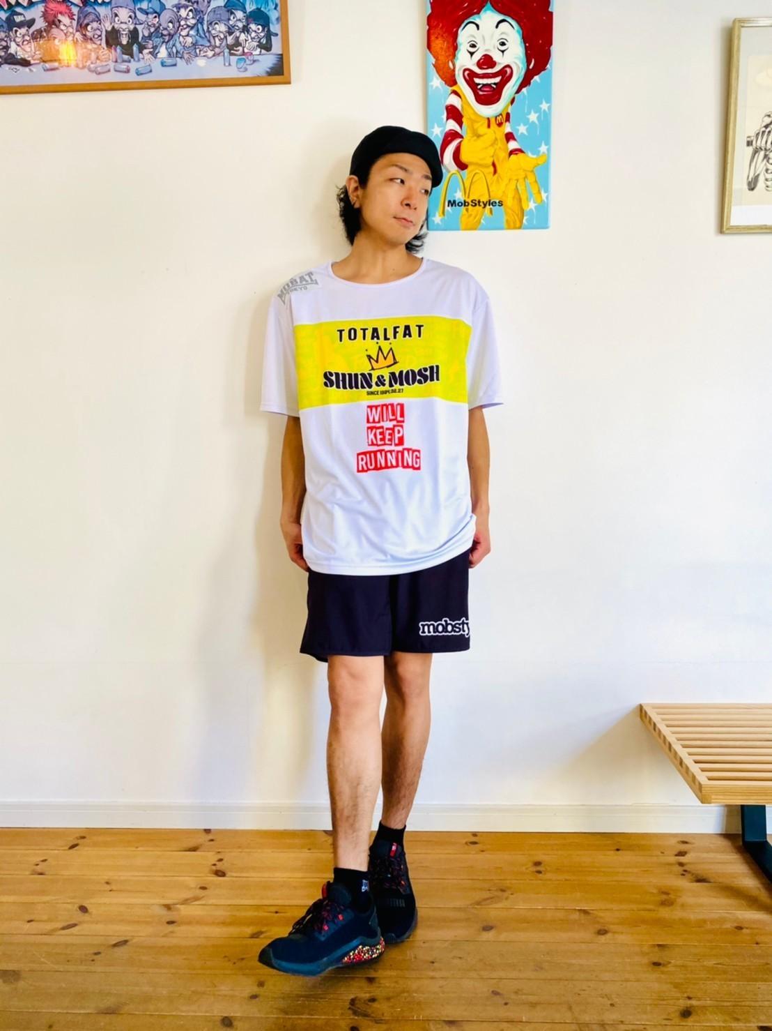 【受注生産】Shun生誕記念Tシャツ2021「Shun × MOBSTYLES DRY TEE」(WHITE)