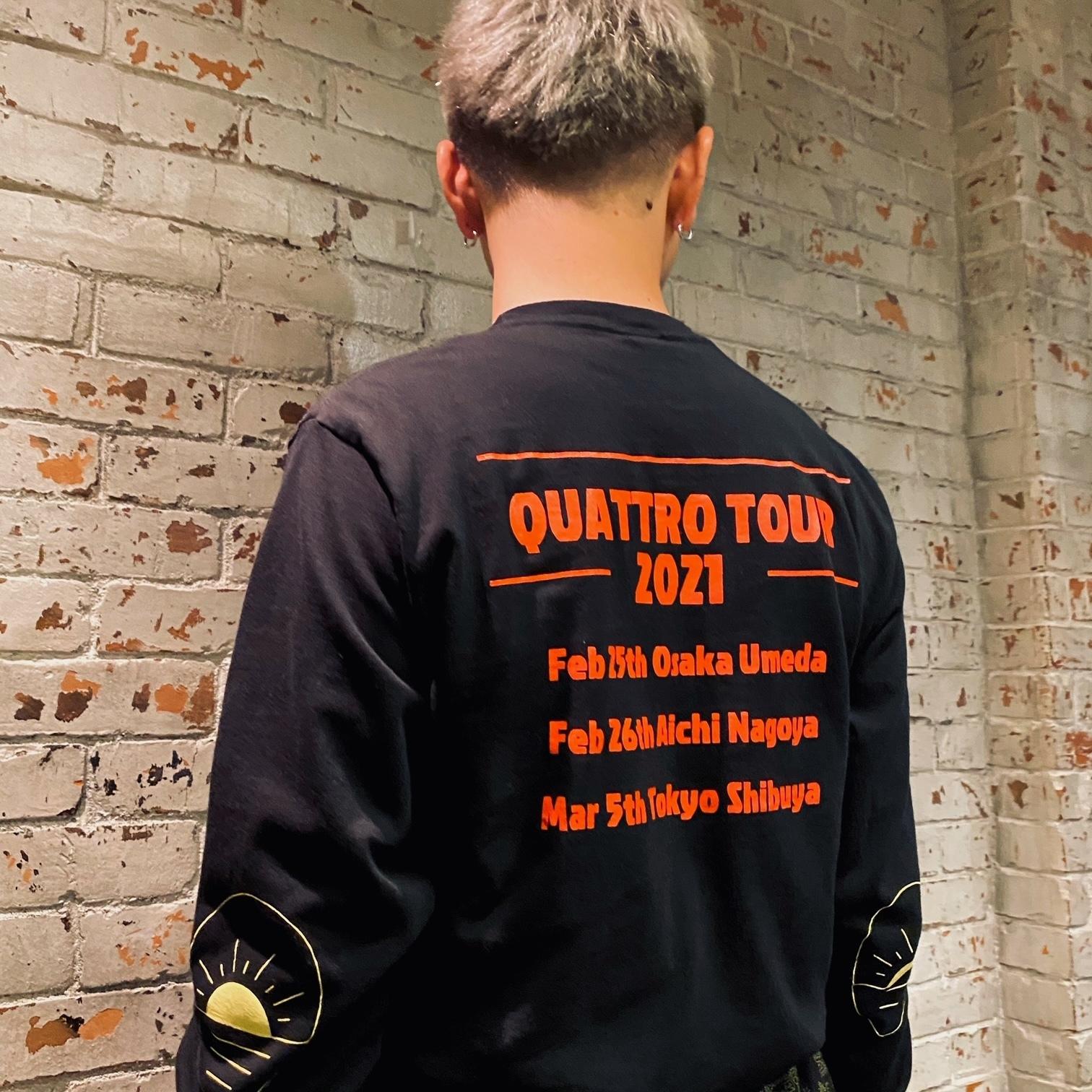 "QUATTRO TOUR Long Sleeve Tee ""reborn"" (全2色)"