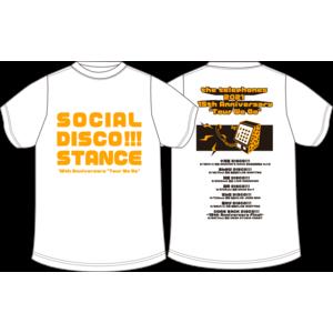 SOCIAL DISCO STANCE Tシャツ(ホワイト)